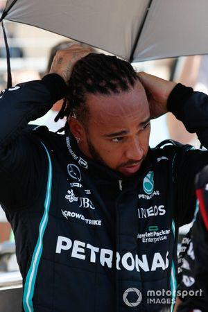 Lewis Hamilton, Mercedes, on the grid