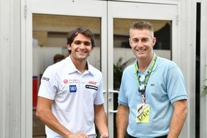 Pietro Fittipaldi, reserve driver, Haas F1, with Darren Jack, owner of the Racing Hall of Fame Collection