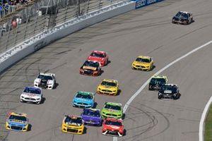 Ricky Stenhouse Jr., JTG Daugherty Racing, Chevrolet Camaro Bush's Beans and Bubba Wallace, 23XI Racing, Toyota Camry Door Dash