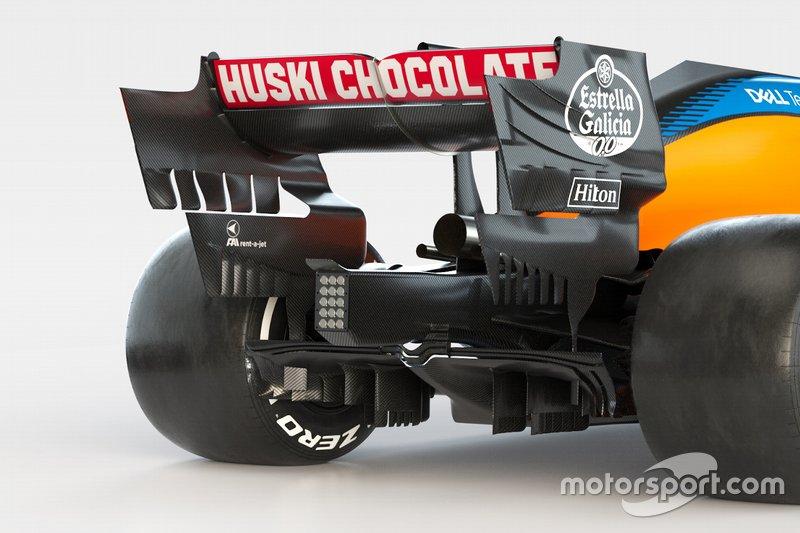 Задняя часть McLaren MCL35