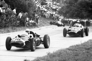Maurice Trintignant, Cooper-Climax; Dan Gurney, BRM P25; Carlos Menditeguy, Cooper-Maserati