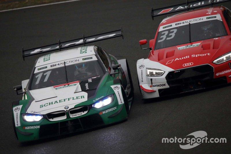 Marco Wittmann #11 BMW M4 DTM, Rene Rast #33 Audi Sport RS 5 DTM