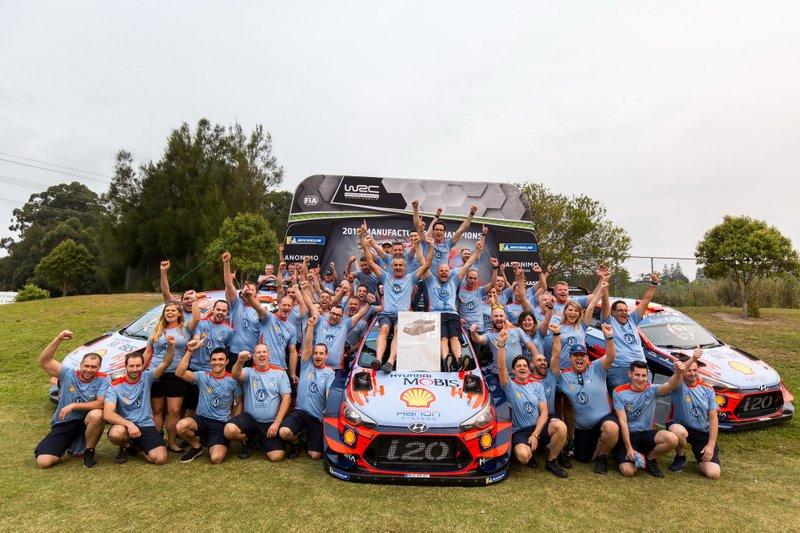 Team championship celebration of Hyundai Motorsport