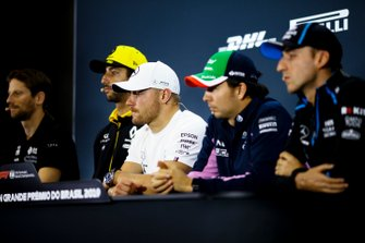 Robert Kubica, Williams Racing, Sergio Perez, Racing Point, Valtteri Bottas, Mercedes AMG F1, Daniel Ricciardo, Renault F1 Team and Romain Grosjean, Haas F1 In the Press Conference
