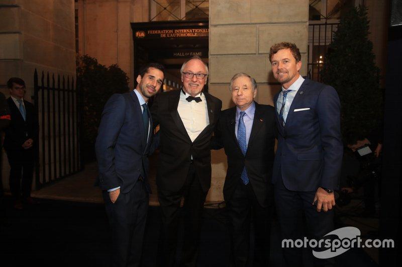 Jean Todt, presidente de la FIA, Neel Jani, Jean-Louis Schlesser, Marcel Fassler