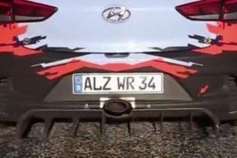 Hyundai i20 Coupe WRC, dettaglio del diffusore