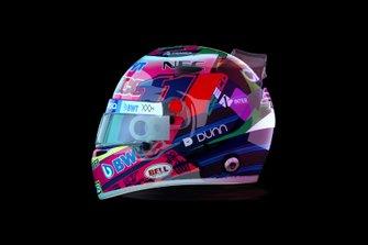 Le casque de Sergio Pérez pour le GP du Mexique