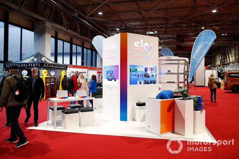 The Sky stand at Autosport International 2020