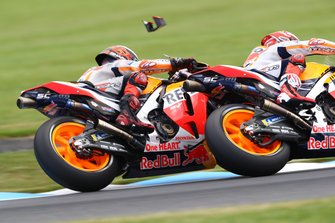 Jorge Lorenzo, Repsol Honda Team, Marc Marquez, Repsol Honda Team collision, part of wing in air