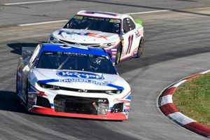 Ryan Preece, JTG Daugherty Racing, Chevrolet Camaro Kroger, Denny Hamlin, Joe Gibbs Racing, Toyota Camry FedEx Freight