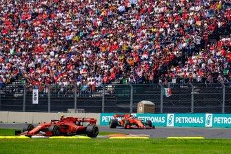 Charles Leclerc, Ferrari SF90,Sebastian Vettel, Ferrari SF90