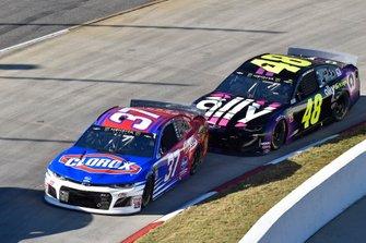 Chris Buescher, JTG Daugherty Racing, Chevrolet Camaro Clorox, Jimmie Johnson, Hendrick Motorsports, Chevrolet Camaro Ally
