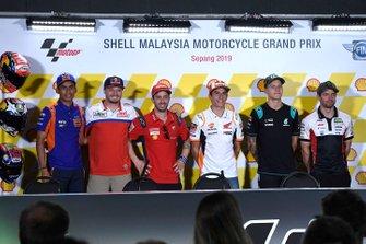 Hafizh Syahrin, Red Bull KTM Tech 3, Jack Miller, Pramac Racing, Andrea Dovizioso, Ducati Team, Marc Marquez, Repsol Honda Team, Fabio Quartararo, Petronas Yamaha SRT, Cal Crutchlow, Team LCR Honda