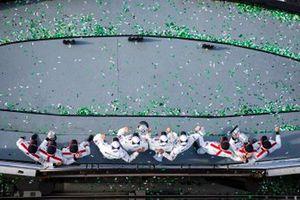 #24 BMW Team RLL BMW M8 GTE: Jesse Krohn, John Edwards, Augusto Farfus, Chaz Mostert, #912 Porsche GT Team Porsche 911 RSR: Earl Bamber, Laurens Vanthoor, Mathieu Jaminet, #911 Porsche GT Team Porsche 911 RSR: Nick Tandy, Frederic Makowiecki, Matt Campbell