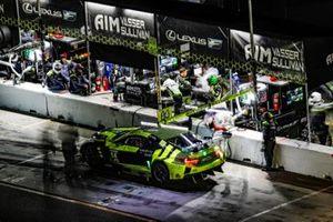Noche, pit lane, #14 AIM Vasser Sullivan Lexus RC F GT3, GTD: Richard Heistand, Jack Hawksworth, Parker Chase