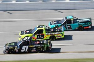 Riley Herbst, Kyle Busch Motorsports, Toyota Tundra Monster Energy/Advance Auto Parts, Matt Crafton, ThorSport Racing, Ford F-150 Black Label Bacon/ Menards, Johnny Sauter, ThorSport Racing, Ford F-150 Tenda Heal