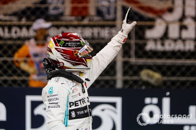 Il poleman Lewis Hamilton, Mercedes AMG F1 W10