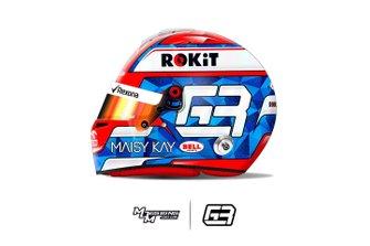 Helmet of George Russell, Williams Racing