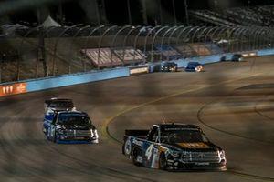 Todd Gilliland, Kyle Busch Motorsports, Toyota Tundra JBL/SiriusXM, Austin Hill, Hattori Racing Enterprises, Toyota Tundra AISIN Group