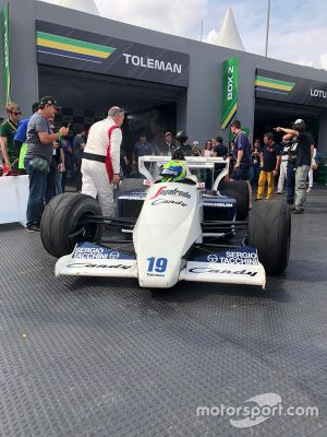 Massa de Toleman no Festival Senna Tribute