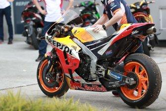 Marc Marquez, Repsol Honda Team's crashed Honda