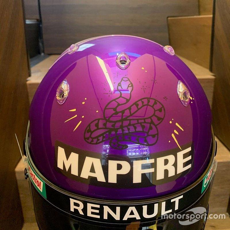 Der Spezialhelm von Daniel Ricciardo