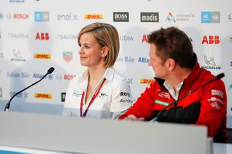 Susie Wolff, Team Principal, Venturi, Allan McNish, Team Principal, Audi Sport Abt Schaeffler in the press conference