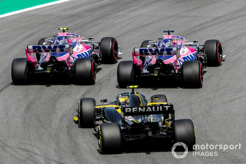 Lance Stroll, Racing Point RP19, Sergio Perez, Racing Point RP19, Nico Hulkenberg, Renault R.S.19