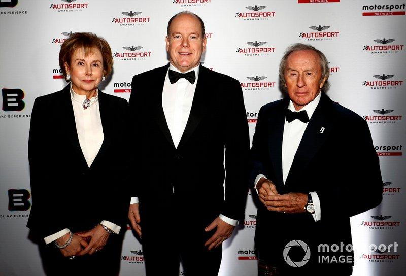 Príncipe Alberto II de Mónaco y Sir Jackie Stewart