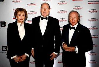 SAS le Prince Albert II de Monaco, et Sir Jackie Stewart