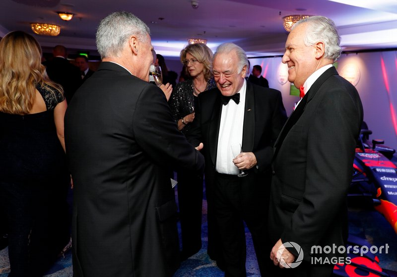 Chase Carey, Chairman, Formula 1, talks to guests