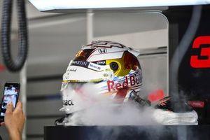 The helmet of Max Verstappen, Red Bull Racing
