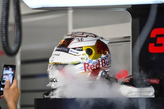 The helmet of Max Verstappen, Red Bull Racing