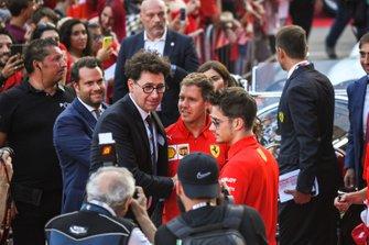 Mattia Binotto, Sebastian Vettel, Ferrari en Charles Leclerc, Ferrari
