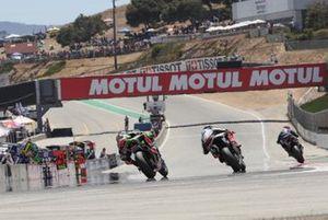 Leon Haslam, Kawasaki Racing Team en Tom Sykes, BMW Motorrad WorldSBK Team