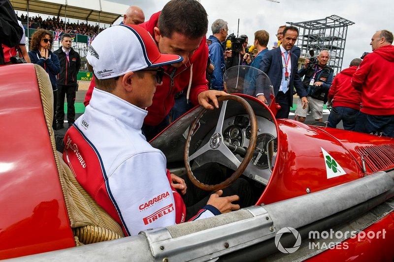 Kimi Raikkonen, Alfa Romeo Racing, prueba el Alfa Romeo 159