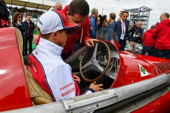 Kimi Raikkonen, Alfa Romeo Racing, prova un Alfa Romeo 159