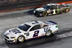 Brad Keselowski, Team Penske, Ford Mustang Miller Lite and Kurt Busch, Chip Ganassi Racing, Chevrolet Camaro Monster Energy