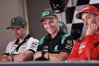 Cal Crutchlow, Team LCR Honda, Fabio Quartararo, Petronas Yamaha SRT, Andrea Dovizioso, Ducati Team