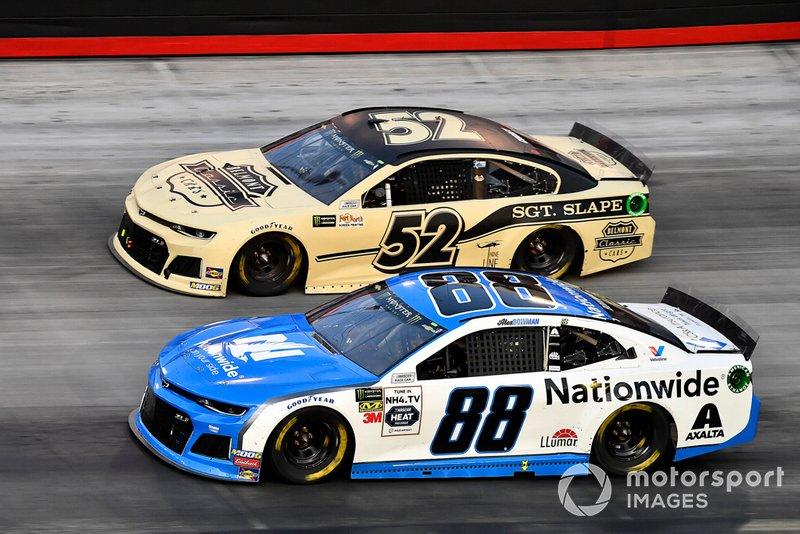 Alex Bowman, Hendrick Motorsports, Chevrolet Camaro Nationwide and Bayley Currey, Rick Ware Racing, Chevrolet Camaro Belmont Classic Cars