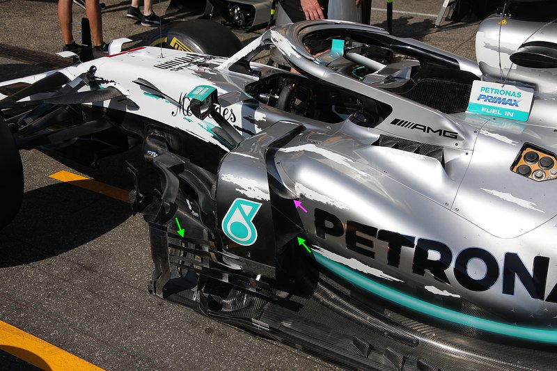 Mercedes AMG F1 W10 technical detail