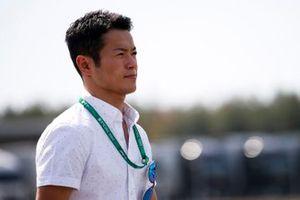 Naoki Yamamoto walks the track