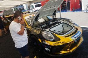 Dettaglio della Porsche di Stefano Monaco, AB Racing