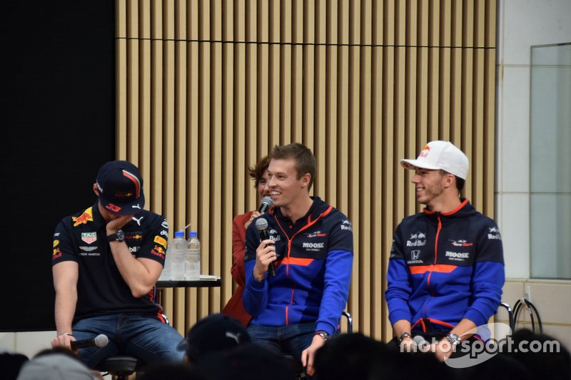 Daniil Kvyat, Pierre Gasly, Max Verstappen