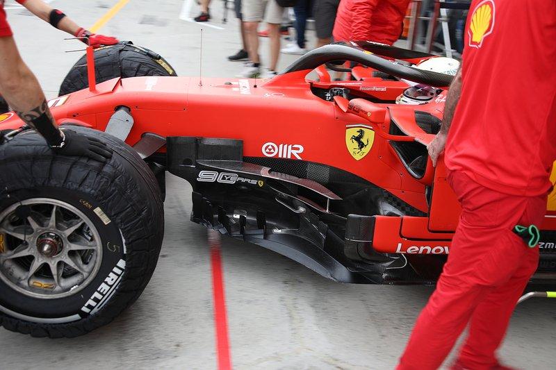 Ferrari SF90, dettaglio del barge board