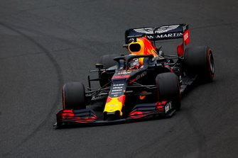Max Verstappen, Red Bull Racing RB15 spin
