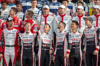#7 Toyota Gazoo Racing Toyota TS050 - Hybrid: Mike Conway, Kamui Kobayashi, Jose Maria Lopez, #8 Toyota Gazoo Racing Toyota TS050 - Hybrid:Kazuki Nakajima, Brendon Hartley