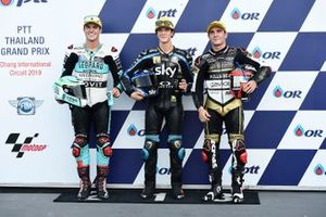 Polesitter Celestino Vietti, Sky Racing Team VR46, second place Marcos Ramirez, Leopard Racing, third place Albert Arenas, Ángel Nieto Team