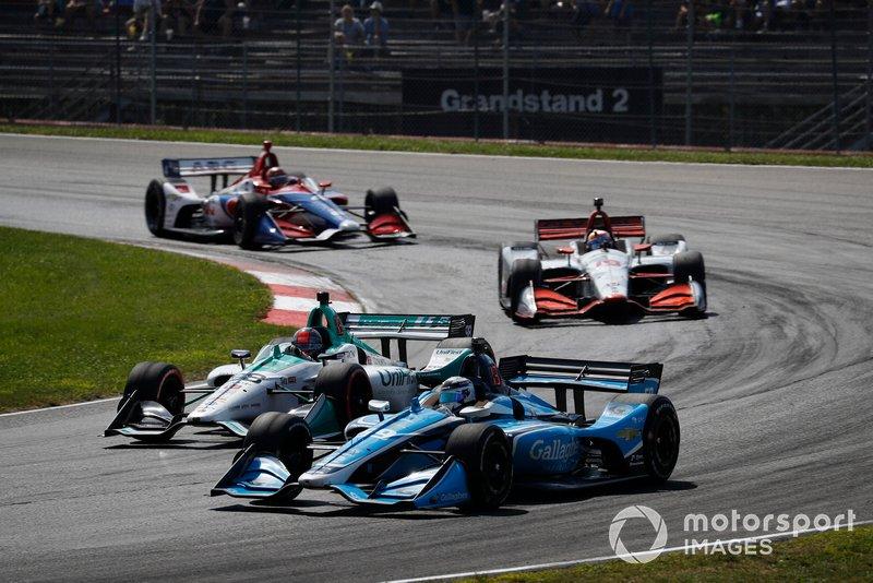 Max Chilton, Carlin Chevrolet, Marco Andretti, Andretti Herta with Marco & Curb-Agajanian Honda