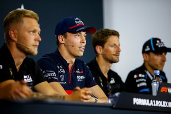 Daniil Kvyat, Toro Rosso, Kevin Magnussen, Haas F1, Romain Grosjean, Haas F1 and Robert Kubica, Williams Racing in the Press Conference